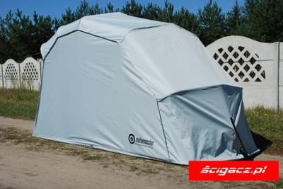 Garaż Namiot Motocyklowy L 1,5x2,8m Szary Mototent