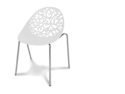 504 Białe Krzesło Ażurowe Floral Wzory Do Kuchni