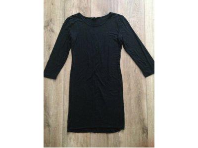 a7043fd60a Czarna prosta sukienka H M OKAZJA!!! - 6596984347 - oficjalne ...