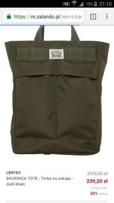 bd5903e7952d3 Torebka torba plecak shopper Levis - 6918886110 - oficjalne archiwum ...