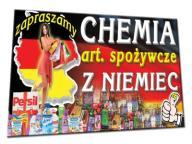 BANER REKLAMOWY 2x1m chemia z Niemiec sklep półka