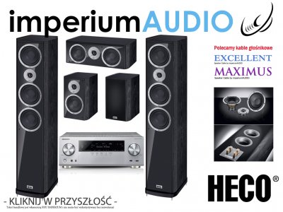HECO MUSIC STYLE 900 CZARNE + PIONEER VSX-930 5.0