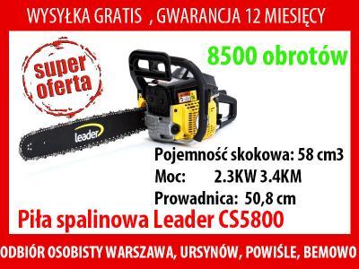 Piła spalinowa Leader CS5800 3.4KM prowadnica 51cm