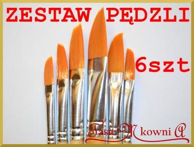 Zestaw 6 Pedzli Do Decoupage Duze Pedzle Corona 5585421430 Oficjalne Archiwum Allegro