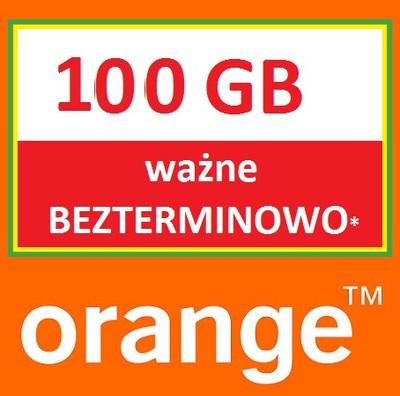100GB Internet na kartę ORANGE Free wieczne LTEWWA ...