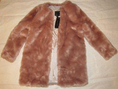 8687a281 NOWE płaszcz futerko różowe NEW YORKER r.36 OKAZJA