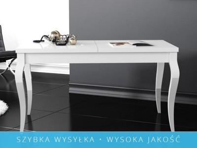 Stół Rozkładany Ludia Biały Wysoki Połysk 6575233244 Oficjalne