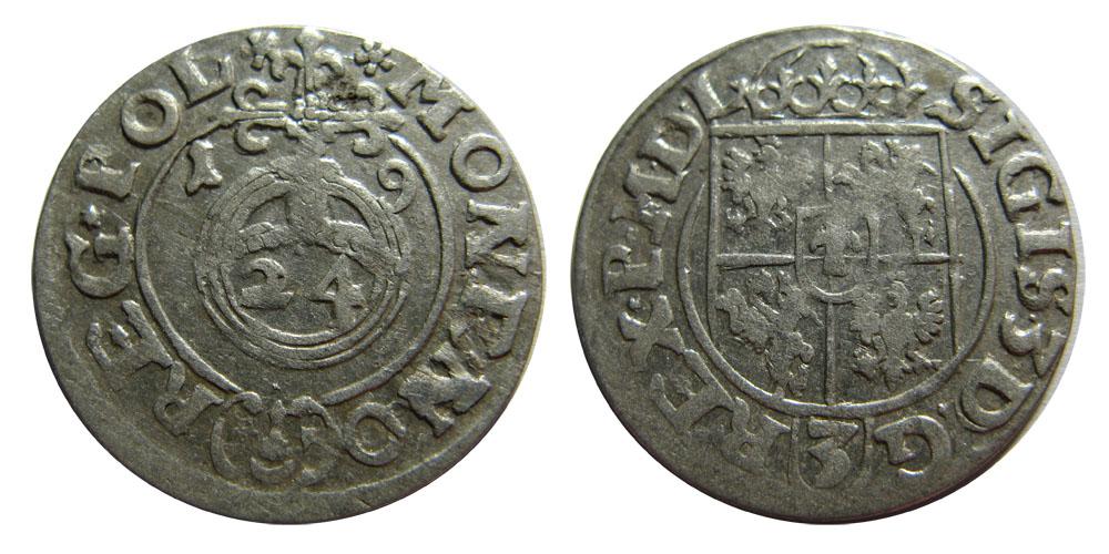 Półtorak, 1619, wariant POL, bardzo rzadki, piekny