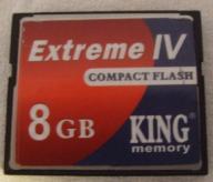 COMPACT FLASH 8GB + WARTOŚCIOWY GRATIS DO WYBORU