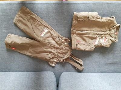 Bezrękawnik + spodnie coccodrillo r. 80