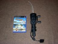 Wędka 4gamers + gra Sega Bass Fishing Duel PS2