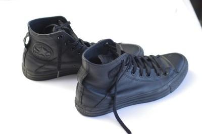 trampki converse damskie 39,5 czarne skórzane