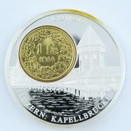 1 Frank 1914 Szwajcaria + numizmat Luzern - B288