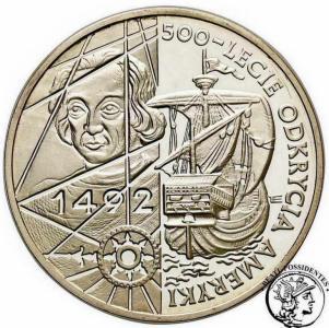 III RP 200 000 złotych 1992 Odkrycie Ameryki st.L-
