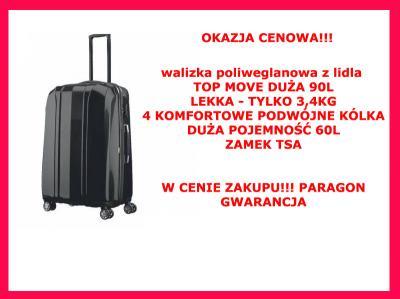 773fd97ea09b6 Duża walizka poliwęglanowa 60L Top Move z LIDLA - 5629570297 ...