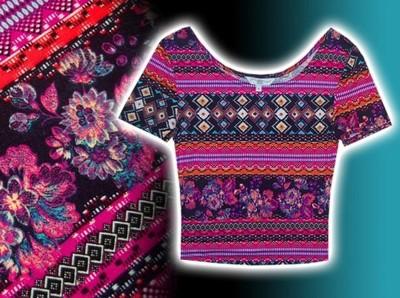 NEW LOOK * super BLUZKA modny wzór AZTEC *** XS