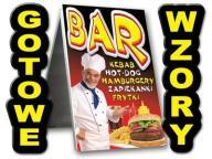 POTYKACZ 125x75 REKLAMA BAR hot dog kebab pizza