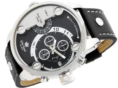 1f210eb0cac7e DUŻY Zegarek męski GINO ROSSI zegarki QUADRO DUAL - 6219709601 ...