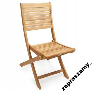 Krzesło Składane Drewniane Drewno Ogród Wyprzedaż 6458408417