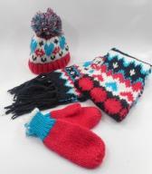 TU czapka zimowa szal rękawiczk r 52 3- 6 lat (A64