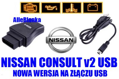 NISSAN v2 USB 89-00 14-pin Diagnoza Adaptacje Logi