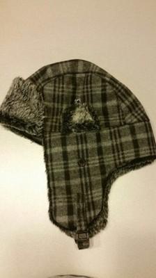 czapka pilotka uszatka zimowa meska Reserved