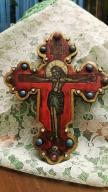 ROSJA ZABYTKOWY KRZYŻ STARA IKONA CHRYSTUS JEZUS