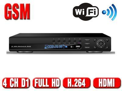 Rejestrator HYBRYDA monitoring HDMI WiFi 960H 4 CH