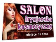 BANER 2x1m FRYZJER KOSMETYKA włosy reklama ulotki