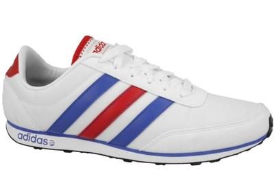 adidas białe buty z kolorowymi paskami