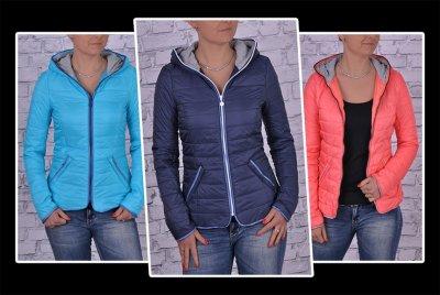 pikowane kurtki wiosenne xxl kolorowe