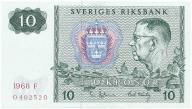 3959. Szwecja 10 kronor 1968 st.1-
