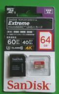 SanDisk Extreme micro SDXC 64GB U3 class 10