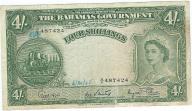 Bahamy 4 shillings 1953r rzadki