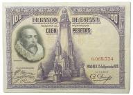 14.Hiszpania, 100 Peset 1928, P.76.a, St.3+