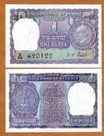 Indie 1 Rupia 1969 P-66 UNC