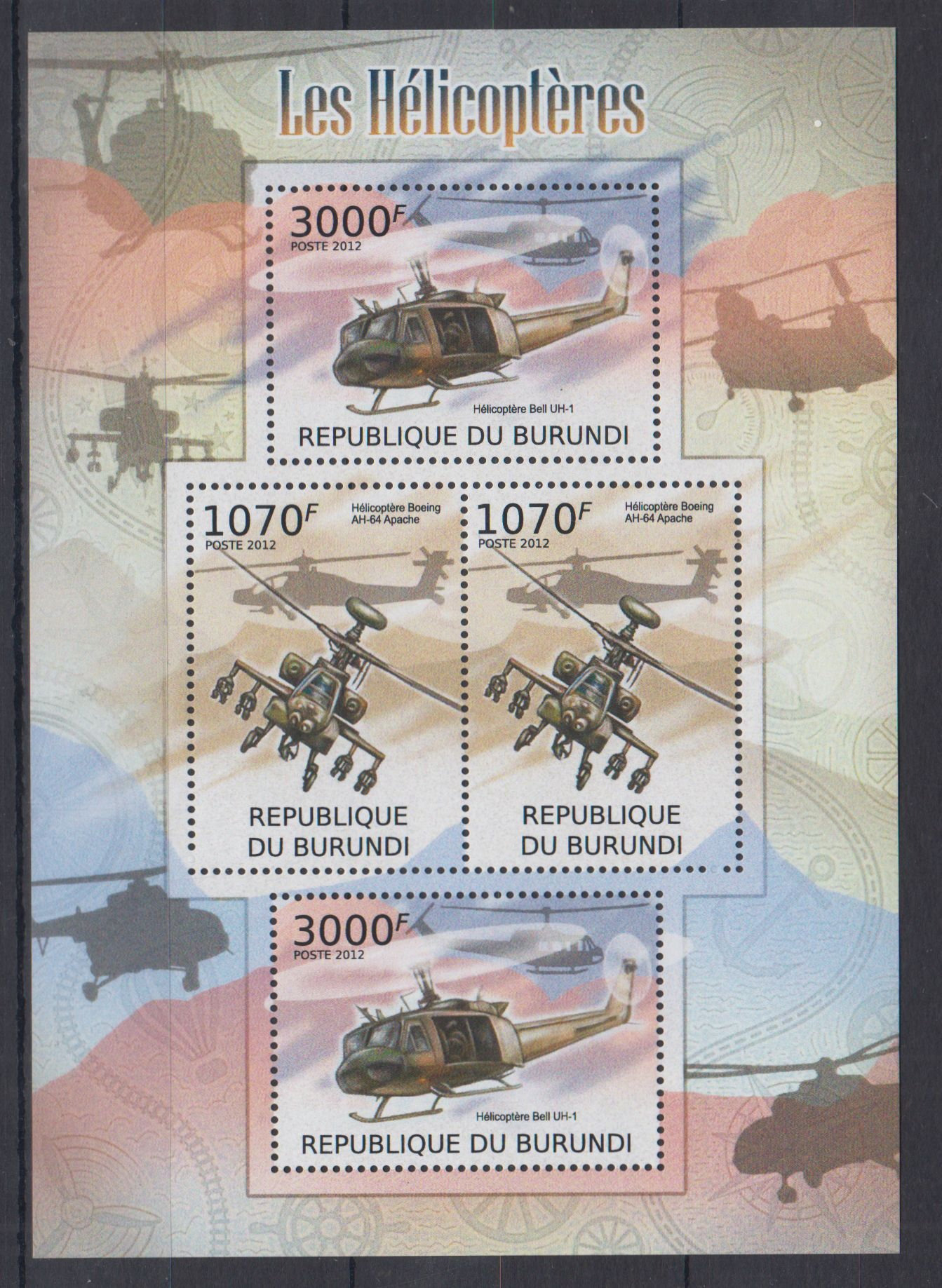 D11. MNH Burundi Samoloty