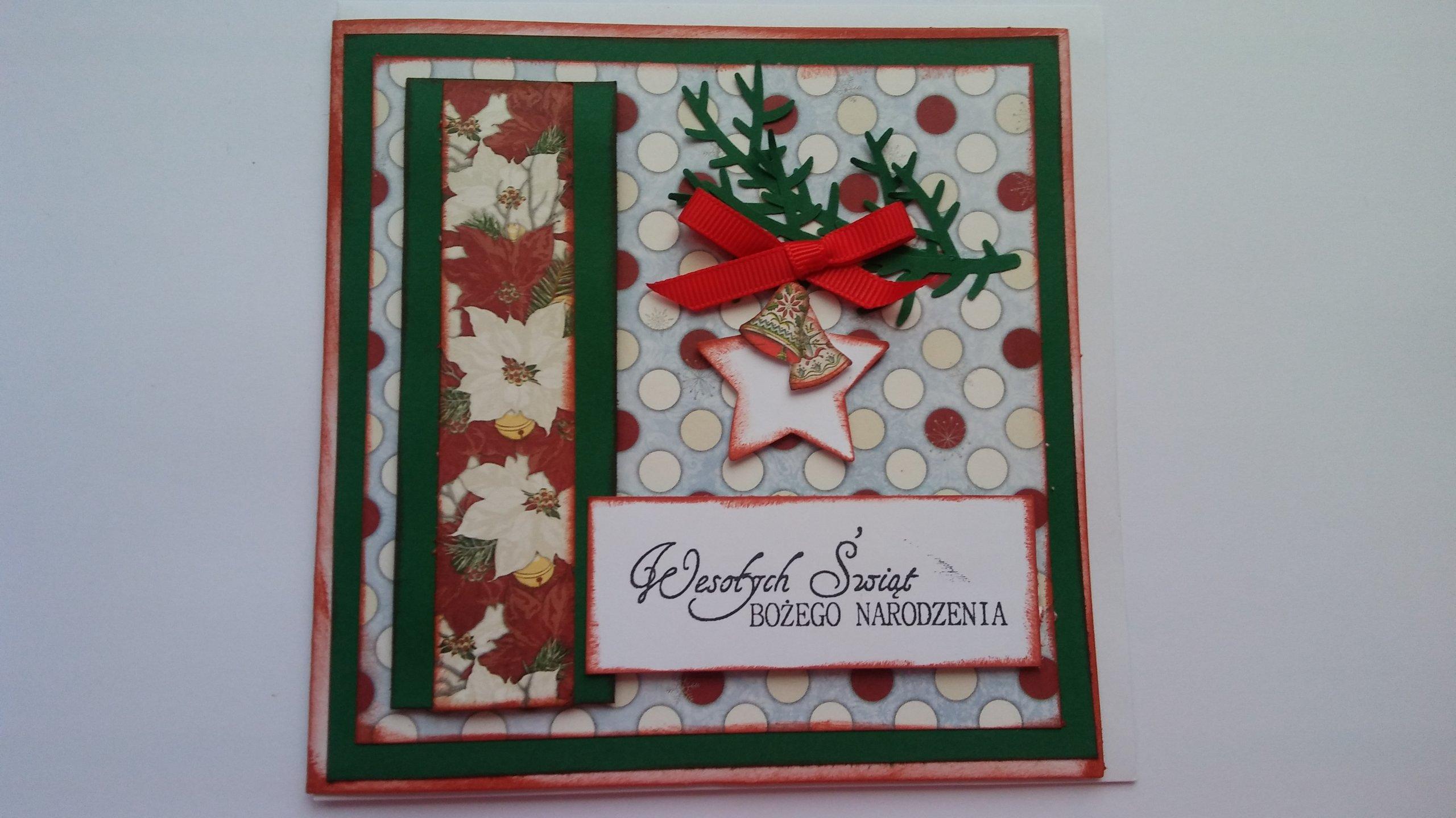 Dodatkowe Kartki Świąteczne Bożonarodzeniowe ręcznie robione - 7070924710 CQ79