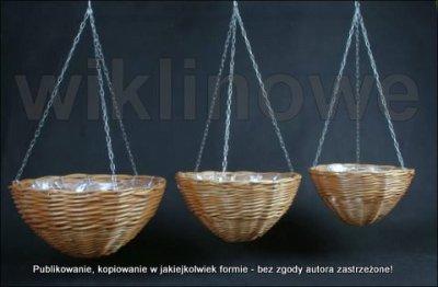 Wiklinowa Doniczka Wisząca Z Wikliny 35x18cm 6199134696
