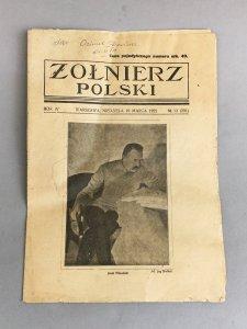 żołnierz Polski Józef Piłsudski Marzec 1922r 6507556443