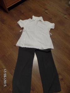 zestaw 49 spodnie ciążowe + koszula rozmiar 40-42