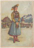 Etnografia stroje ludowe Szwajcaria (ok. 1918)