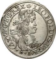 Leopold I 1657-1705, 15 krajcarów 1664, Graz
