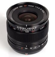 Obiektyw Fuji Fujinon 14mm/2.8 + polar Marumi Slim