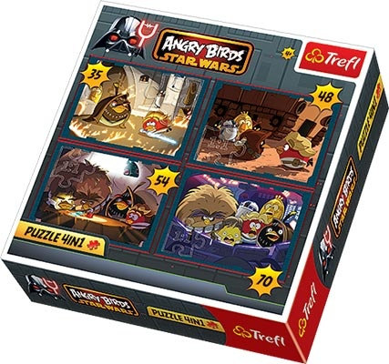 Puzzle Angry Birds 4w1 Star Wars Trefl 7035606268 Oficjalne Archiwum Allegro