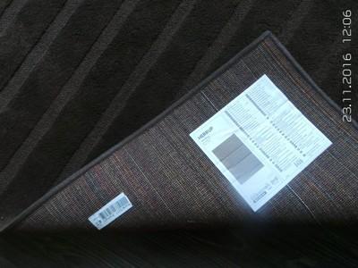 IKEA dywan z krótkim włosiem HERRUP 133x195cm BRĄZ