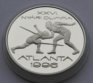 Węgry 1995r. 1000 Ft - IO Atlanta, szermierka (Ag)
