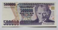 Banknot Turcja 500000 Lira 1970 UNC-