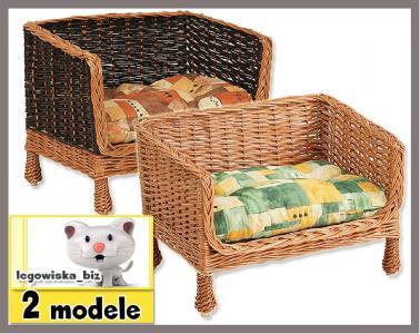 Wiklinowa sofka legowisko dla kota+poduszka NOWOŚĆ