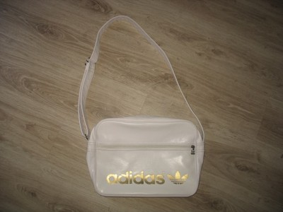 7758bb0e6568b torba biała adidas a4 złoty napis oryginalna - 6922821197 ...